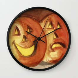 Jack-O-Lanterns Wall Clock