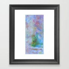 Words and Water Paint 3 Framed Art Print
