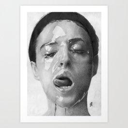 Monica Bellucci Traditional Portrait Print Art Print