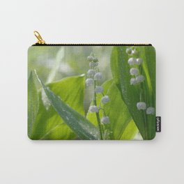 #Lily of The #Valley with #waterdrops on the #leaves Carry-All Pouch
