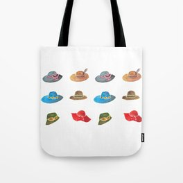 Crazy hat lady Tote Bag