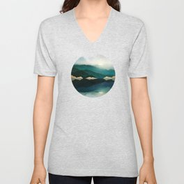 Waters Edge Reflection Unisex V-Neck
