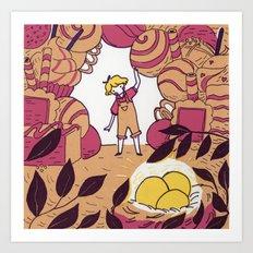 The Golden Nougat Art Print
