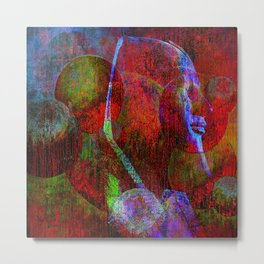 The mask of Cleopatra  (collaboration with the talented Agostino Lo Coco ) Metal Print