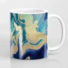 DRAMAQUEEN - GOLD INDIGO MARBLE Mug
