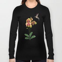 Hummingbird & Phalaenopsis Long Sleeve T-shirt