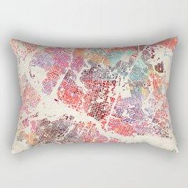 Austin map Rectangular Pillow