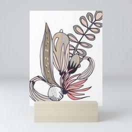 Saturdays flowers illustration Mini Art Print