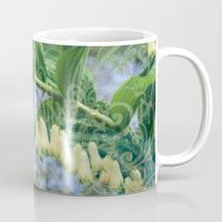 fairies Mugs featuring Fairies' necklace by Dominique Gwerder