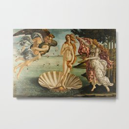 The Birth of Venus (Nascita di Venere) by Sandro Botticelli Metal Print