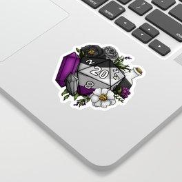 Pride Asexual D20 Tabletop RPG Gaming Dice Sticker