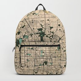Beijing City Map of China - Vintage Backpack