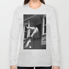 Amazing Legs Out Of A Window Long Sleeve T-shirt
