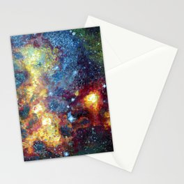 Magellanic Cloud Galaxy Painting Stationery Cards