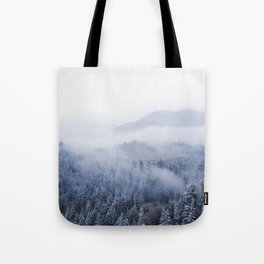 Snowy Washington Mountains from Above Tote Bag