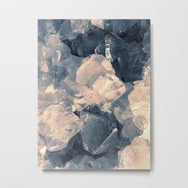 Crystal Blue Metal Print