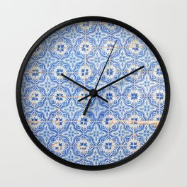 Lisbon tiles Wall Clock