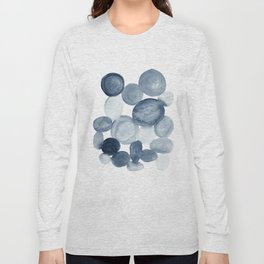 Pebbles Watercolor Abstract Long Sleeve T-shirt