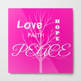 Inspiration Love Tree - Pink Metal Print