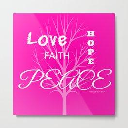 Inspiration Love Tree - Pink Metal Print