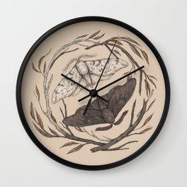 Peppered Moths Wall Clock