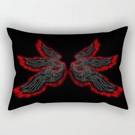 Black Red Archangel Wings Rectangular Pillow
