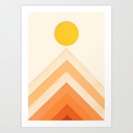 Mountainscape 4 Art Print
