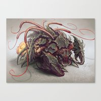 starcraft Canvas Prints featuring RED WHIP THRESHER by The Art of Austen Mengler