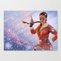 tomb raider Canvas Prints featuring Tomb Raider: Antarctica by LaraRobsGraves