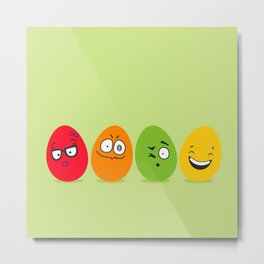 Funny Easter eggs Metal Print
