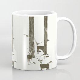 bucks in the snow Coffee Mug