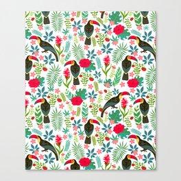 Floral Toucan Canvas Print