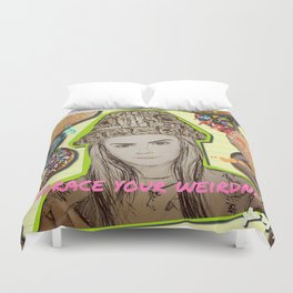 (Cara - Embrace Your Weirdness) - yks by ofs珊 Duvet Cover