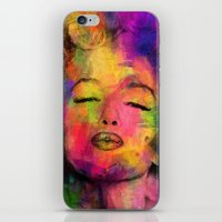 marilyn iPhone & iPod Skins featuring MARILYN  by mark ashkenazi