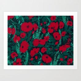 Poppies in the Dark Art Print