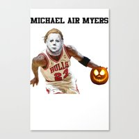 michael myers Canvas Prints featuring Michael Air Myers by negativecreep