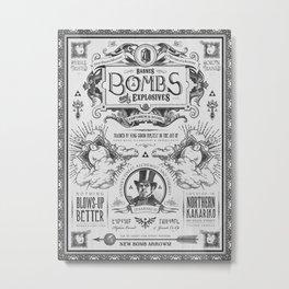 Legend of Zelda Bomb Advertisement Poster Metal Print