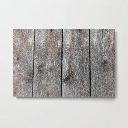 Wood grain II landscape Metal Print