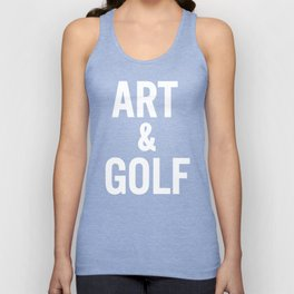 Art & Golf Unisex Tank Top