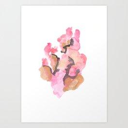 Watercolor Pink Black Gold Flow | [dec-connect] 50. cohesion Art Print