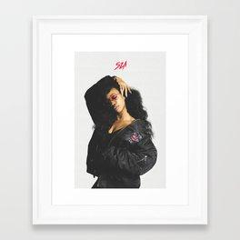 SZA Poster Framed Art Print