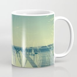 Double Exposure Porthminster Beach,St. Ives, Cornwall Coffee Mug