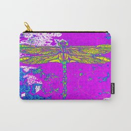 Golden Winged Dragonfly Purple Abstract Carry-All Pouch