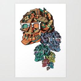 Dangly Skulls Art Print