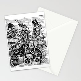 Calavera Cyclists | Skeletons on Bikes | Day of the Dead | Dia de los Muertos | Black and White | Stationery Cards
