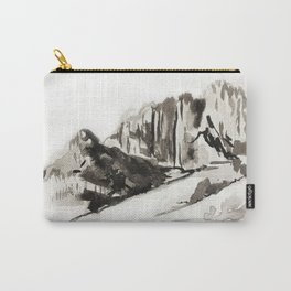 Mountain Ink Wash Landscape Carry-All Pouch