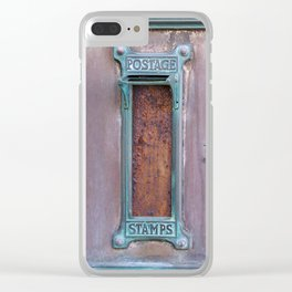 Communication - Vintage Art Deco Post Offic Mailboxes Clear iPhone Case