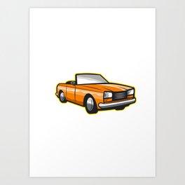 Vintage Cabriolet Fleur-de-Lis  Art Print