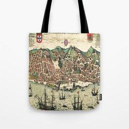 Lisbon map Tote Bag