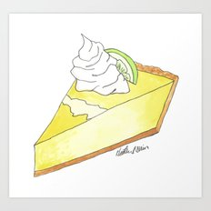 K is for Key Lime Pie Art Print